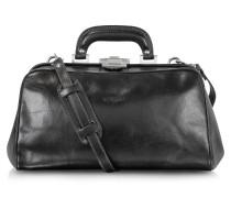 Doktortasche aus schwarzem Leder