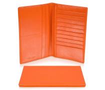 Classica Collection - Brieftasche aus Kalbsleder in orange