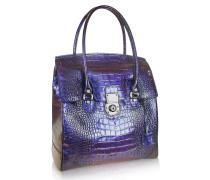 Handtasche aus purpurfarbenem Krokoleder