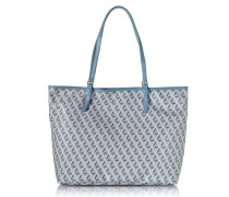 Ikon Coated Canvas and Leather Large Tote Bag