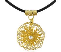 Halskette mit Anhänger aus 18k Gelbgold mit Diamant