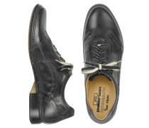 Italienische Schnürschuhe aus Leder von Hand gearbeitet in schwarz
