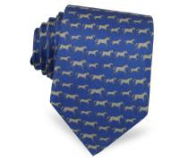 Horses Print Silk Tie