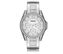 Riley Multifunction Silver Stainless Steel Women's Watch