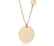Melrose Yellow Gold Over Bronze Necklace w/Geometric Charms