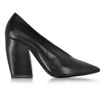 Paloma Black Leather Pump