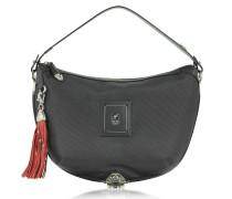 Linea Bold - Tasche Vanity aus Stoff mit Lederdetails