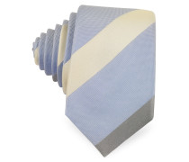 Diagonal Stripe Silk Narrow Tie