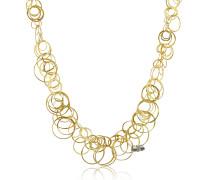 Scintille - Halskette aus 18k Gelbgold mit Diamanten
