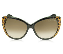 Kurumba 736S 05G Sonnenbrille  mit Leopardenmuster in braun schwarz