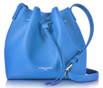 Pur Smooth Blue Leather Bucket Bag