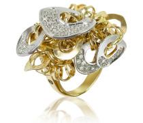 Fashion - Ring aus 18k Gold mit Anhängern und Diamanten