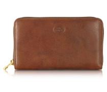 Story Donna Damen-Brieftasche aus Leder mit Rundumreißverschluss
