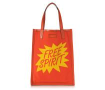 Herren-Umhängetasche Free Spirit in orange und gelb mit Print