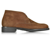 Seattle Brown Suede Ankle Boot w/Rubber Sole