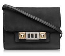 PS11 Brieftasche mit Schulterriemen aus Leder und Nubuck