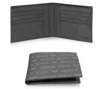 Bi-Fold Brieftasche für Herren aus Textilleder mit Logo