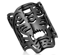 Ruthenium Ring aus Sterlingsilber mit oversized Tiger