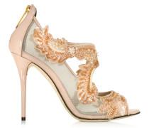 Ambria High Heel Sandale mit Mesh-Einsatz und Lackleder