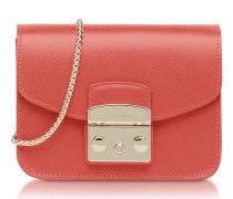 Metropolis Mini Corallo Leather Crossbody Bag