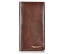 Brieftasche aus Leder in dunkelbraun
