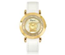 Minuetto Gold Ip Damenuhr aus Edelstahl in gold