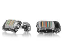 3D Mini Car Manschettenknöpfe für Herren mit Logo und Streifen