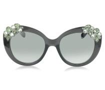 MEGAN/S 1VDIC Sonnenbrille mit Schmuckverzierungen