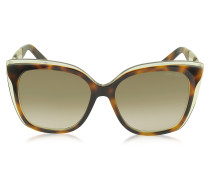 OCTAVIA/S 19WJD Cat Eye Sonnenbrille aus Acetat in havanabraun