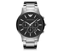 Armbanduhr aus silberfarbenem Edelstahl
