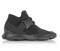 High Top Sneaker aus Neopren in schwarz