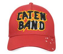 Caten Band Baseball-Cap aus Baumwolle in rot