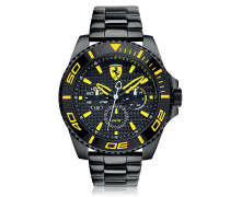 XX Kers Black and Yellow Stainless Steel Men's Watch