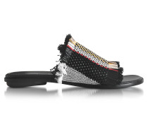 Ginepro flache Sandale aus gewobenem Leder