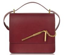 Dark Red Medium Straw Bag