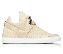 Poseidon Crust Perforated Leather High Top Men's Sneakers