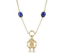 RC Line Halskette mit Anhänger und tiefblauen Steinen