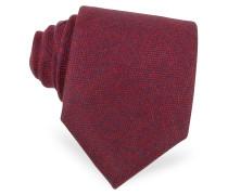 Krawatte aus Kaschmir in rot und blau
