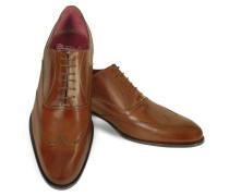 Handgearbeitete Oxford Schuhe aus italienischem Leder in braun