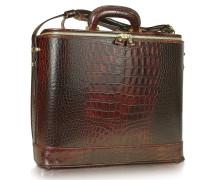 Laptop- Businesstasche aus krokogeprägtem Leder mit Courtesylight