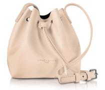 Pur Smooth Nude Leather Mini Bucket Bag
