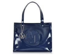Faux Patent Leather Tote