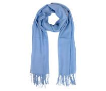 Stola aus Wolle und Kaschmir in himmelblau