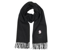 Schal aus Wolle mit Olive Oyl Logo und Fransen