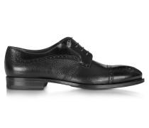 Brogue Schuhe aus grobem Leder in schwarz