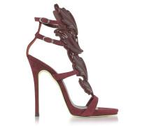 Cruel High Heel Sandale aus Wildleder in burgund