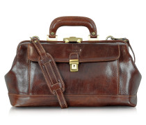Handmade - Doktortasche aus braunem Leder