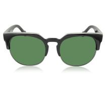 BA0021 01B Damen-Sonnenbrille aus Acetat und Metall in schwarz & gold