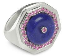Clementina - Ring aus Sterlingsilber mit Lapislazuli