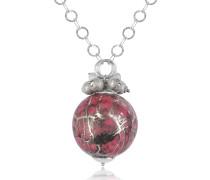 Alchimia - Halskette aus Sterlingsilber mit Anhänger in pink